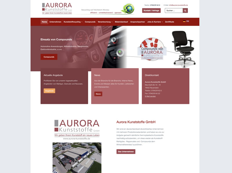 Neue Website online